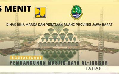 Yuk lihat progres Masjid Al-Jabbar Tahap II