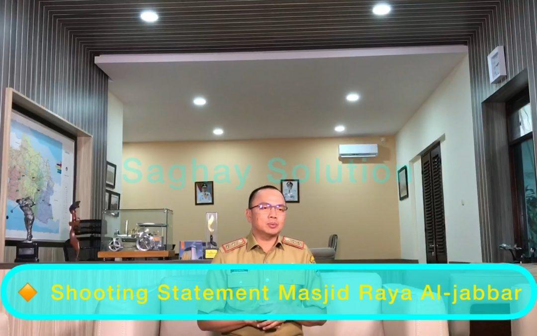 Shooting Statement Kadis DBMPR – Sosialisasi Masjid Raya Al-Jabbar Tahap III