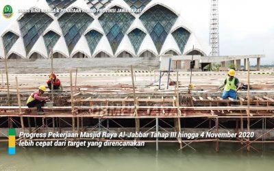 Pembangunan Masjid Al-Jabbar memasuki Tahap III